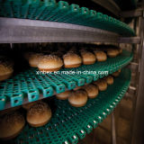 Correia transportadora modular plástica de placas Chain da roda dentada para a transformação de produtos alimentares