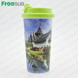 Nuova tazza doppia di plastica di corsa di Freesub