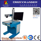 De Laser die van de vezel Machine, het Merken van het Leer/van het Naambord merken