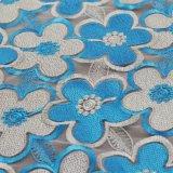 Tessuto del merletto dell'indumento del ricamo del Crochet del cotone