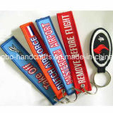 Cheap Customized Wholesale PVC Cork Embroidery Brand Name Keychain