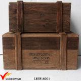Reciclado de madera del abeto decorativo Pecho del tronco Organizador