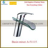 Mezclador sanitario del agua del lavabo del cuarto de baño de las mercancías de la sola maneta de la cascada