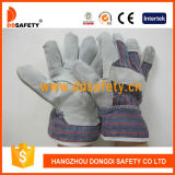 Katoenen van de Handschoen van het Leer van de Koe van Ddsafety 2017 de Gespleten Achter Werkende Handschoen van de Veiligheid
