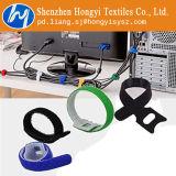Ataduras de cables multicoloras ajustables del gancho de leva y del bucle