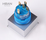Cer RoHS 22mm quadratischer Kopf geleuchteter momentaner verriegelnder Drucktastenschalter