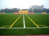 Hierba artificial verde para la corte del fútbol