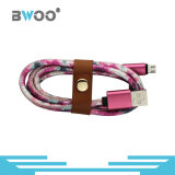 Bwoo 도매 대중적인 가죽 USB 케이블 비용을 부과 접합기