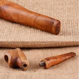 Pipe de fumage rentable de tabac en bois fabriqué à la main de 100%