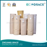 Agulha não tecida saco de filtro perfurado do poliéster para a planta do cimento