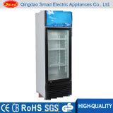 Réfrigérateur vertical de bière, réfrigérateur en verre de porte, étalage d'étalage