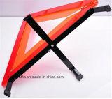 Jogos de advertência reflexivos do sinal do triângulo da segurança plástica do carro