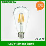 Diodo emissor de luz novo do filamento St64 do diodo emissor de luz de 85-265V 6W