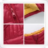 Do Windbreaker Heated europeu por atacado do projeto do OEM da fábrica da roupa de 206 Mens do estilo para baixo do time do colégio do revestimento revestimento impermeável para baixo para a menina das crianças dos homens