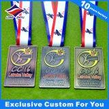Qualität Sports Metallmedaille mit Farbband