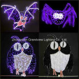 2D Night Owl Design Halloween Decoration