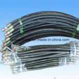 Boyau en caoutchouc hydraulique flexible de pétrole à haute pression spiralé avec SAE100r3