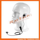Écouteur par radio bi-directionnel d'Earbud avec de petites PTTs de revers
