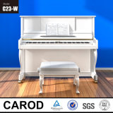 백색 Polished Vertical Piano 123cm
