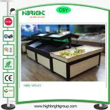 Выдвиженческие стеллажи для выставки товаров овоща плодоовощ для супермаркета
