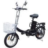 Mini E-Bici plegable de la ciudad con la cesta y la linterna del LED (FB-006)