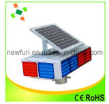 Azul solar e Red LED piscando Luz para Traffic Warning