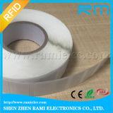 Collant de tag RFID d'étiquette de fréquence ultra-haute d'IDENTIFICATION RF imprimable petit auto-adhésif