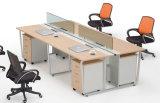 新しいオフィスの木の4つのシートのディバイダの線形ワークステーション(SZ-WST622)