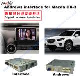 차 Mazda Cx 3를 위한 인조 인간 항법 공용영역, 실행 Stor 향상 접촉 항법, WiFi, Bt, Mirrorlink, HD 1080P 의 Google 지도
