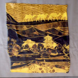 Écharpe Chiffon estampée de type de Dunhuang de polyester