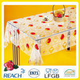 Neues Design PVC Transparent und Embossed Tablecloth Factory (TJ3D0004)