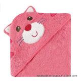 Manta 100% del baño de la toalla del bebé del algodón con alta calidad