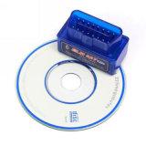 Lettore di codice automatico dello strumento diagnostico di Elm327 Bluetooth OBD2 V2.1 blu (singolo piatto)