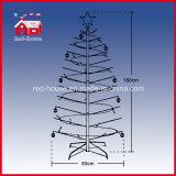 180cm Kerstboom Revolving met Colorful Round Decorations