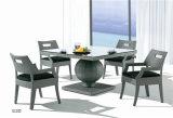全天候用抵抗の屋外の藤の柔らかいクッション椅子および表