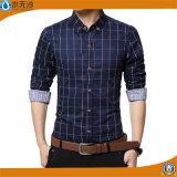 Van de Katoenen van de Koker van het Overhemd van mensen het Lange Overhemd Formele Blouse van Af:drukken