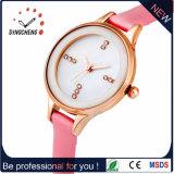 Alta calidad grande del reloj de la cara de los relojes duales de múltiples funciones del tiempo con la venda de cuero