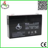 6V 7ah wartungsfreie gedichtete Leitungskabel-Säure-Batterie