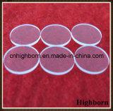 Glace circulaire claire résistante à la corrosion de quartz de silice