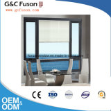 Guichet en aluminium de tissu pour rideaux de bâti en bois de couleur de bonne qualité avec la glace simple ou double