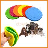 Haltbarer flexibler weicher Silikon-Hundeim freientrainings-Flugwesen-Platten-SpielzeugFrisbee