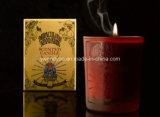 De gebemerkte Kaarsen van de Kruik van het Glas in de Doos van de Gift van de Luxe