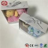 Cobertor animal infantil embalado requintado agradável da forma da caixa de presente do bebê