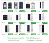 Réverbère 60W solaire Integrated avec le panneau solaire de batterie
