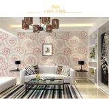 Círculos clásicos de lujo inconsútiles de Jcc que graban la sala de estar del dormitorio del hotel de la tela del papel pintado