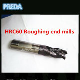 Carboneto 4 Flutes Roughing Extremidade Mills HRC60 20mm