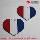 Práctico de costa a prueba de calor antirresbaladizo flexible de la taza del PVC de la dimensión de una variable del corazón