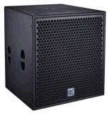 Bajo secundario secundario activo secundario del altavoz para bajas audiofrecuencias \ Cvr del sistema de sonido del bajo \ del club de 21 pulgadas \ del altavoz sano de la etapa