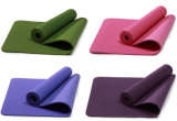 Esteira lisa da ioga do TPE da cor para o uso diário ambos os lados