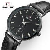 Horloge van de Dames van de Manier van het Horloge van het Kwarts van de Dames van het Leer van Belbi het Eenvoudige Waterdichte